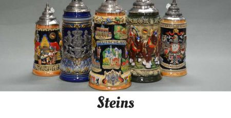 Hand-painted German steins