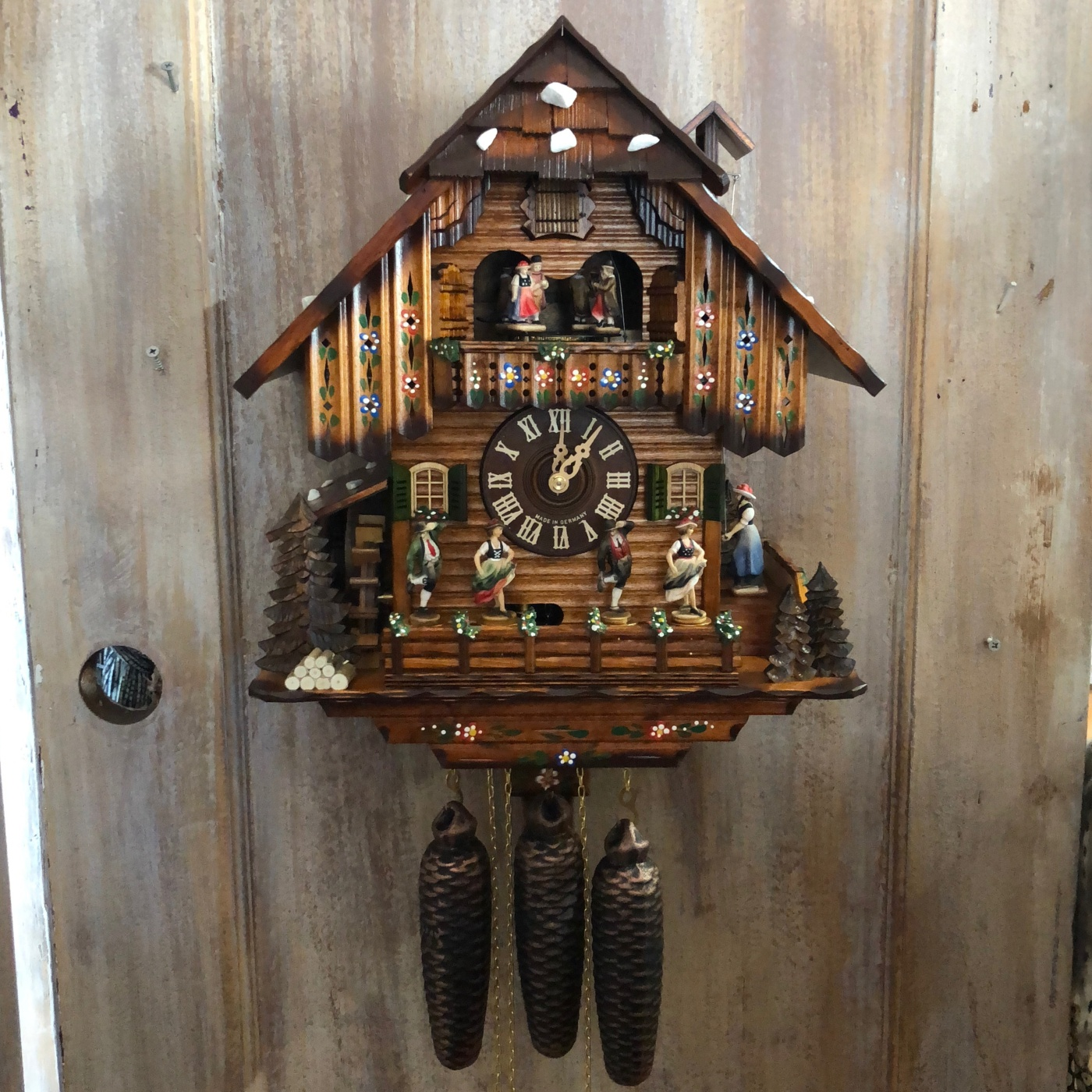 cuckoo clock with dancers