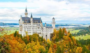 Germany Bavarian Famous Neuschwanstein Castle