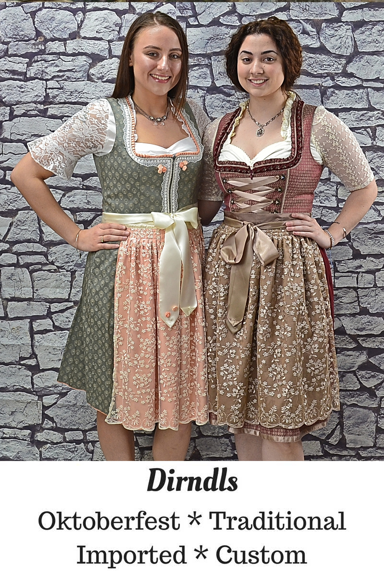 dirndl - Oktoberfest, Traditional, Imported and custom German dirndls