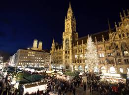 Christkindlsmarkt christmas market in Munich, Germany