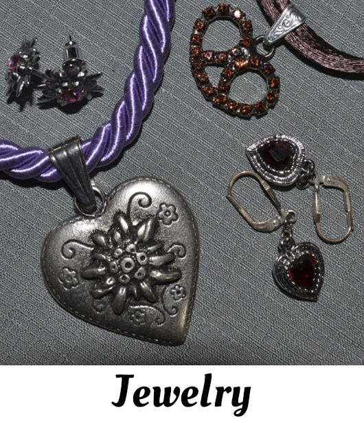 Trachten German jewelry imported and traditional