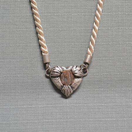 tan heart necklace