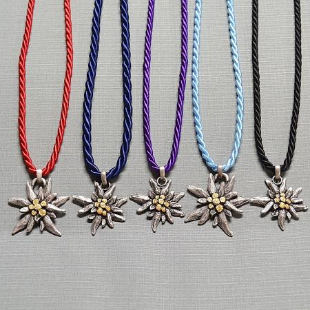 corded edelweiss necklace