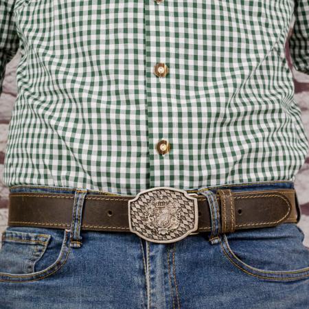 german crest leather belt