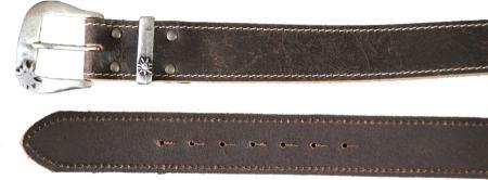 Women's Leather Edelweiss Buckle Belt