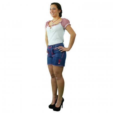Ladies Denim Lederhosen Shorts