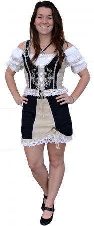 "Black and Beige ""Livia"" Skirt Size 14, 16, 18"