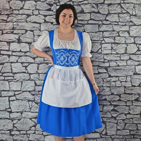 bavarian blue waitress dirndl