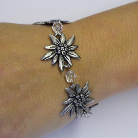 Edelweiss Bracelet with Clear Stones