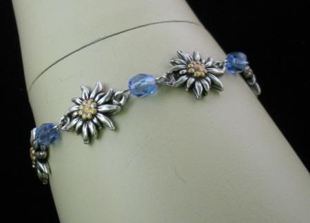 Edelweiss Bracelet with Stones