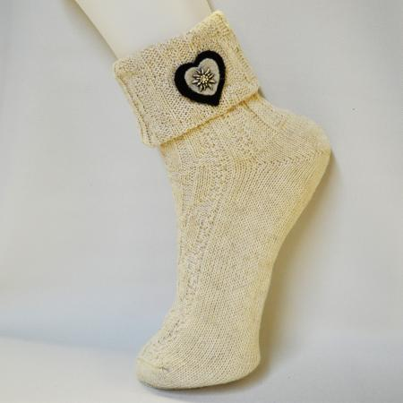 Edelweiss Charm Ankle Sock