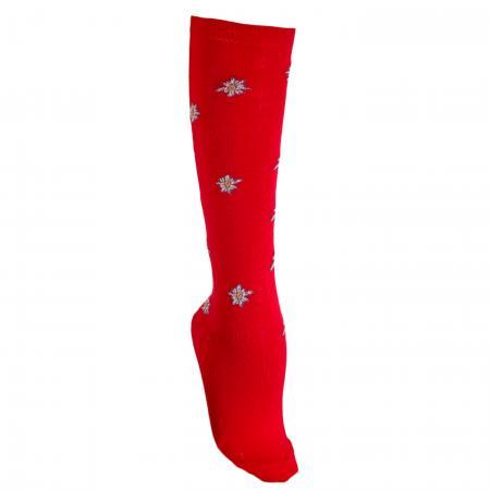Knee High Edelweiss Socks Red