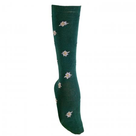 Knee High Edelweiss Socks Green