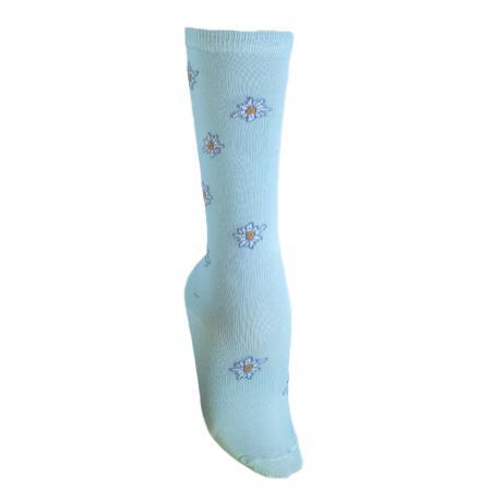 Knee High Edelweiss Socks Light Blue