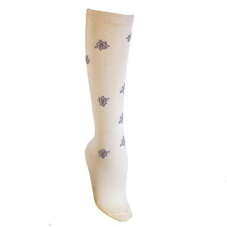 Knee High Edelweiss Socks Cream