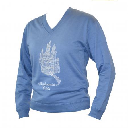 Ladies Neuschwanstein Castle Sweatshirt Blue