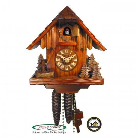 Small Forest Cabin Cuckoo Clock