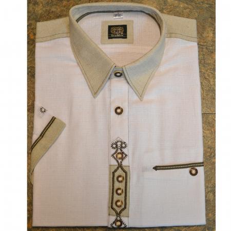 German Short Sleeved Shirt with Dark Stitching