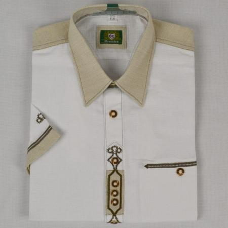Short Sleeved Shirt with Dark Stitching