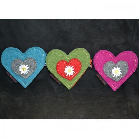 Felt Heart Coin Purse