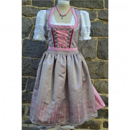 Silver and Rose Dirndl- size 20, 22, 24