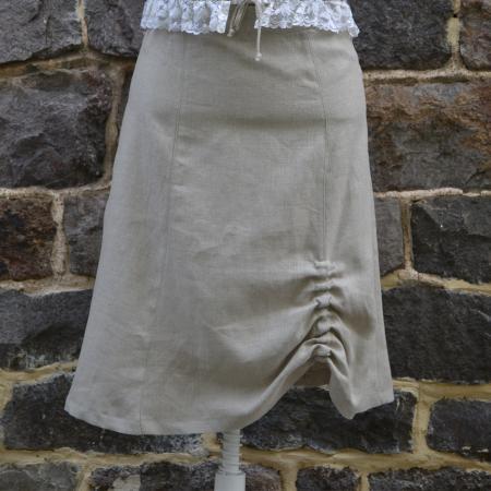 Ladies Tan Knee Length Skirt