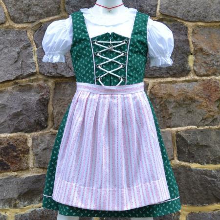 Heidi Green Print Dirndl and apron