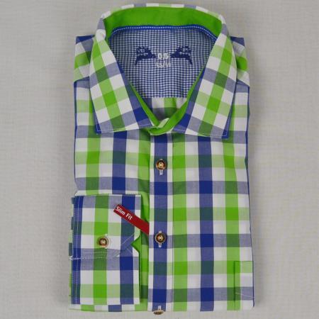 Slim Fit Long Sleeved Checkered Shirt