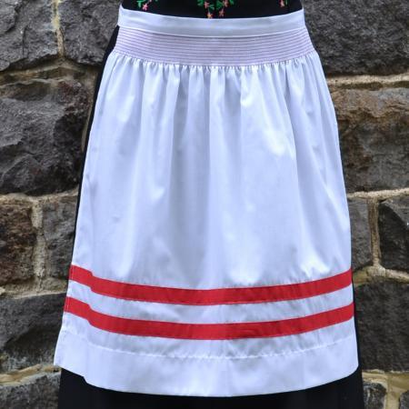Stripe Apron Red