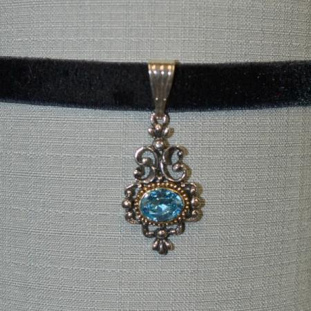 Blue Filigree Choker