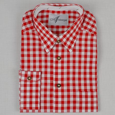 Red Checked Long Sleeve Shirt