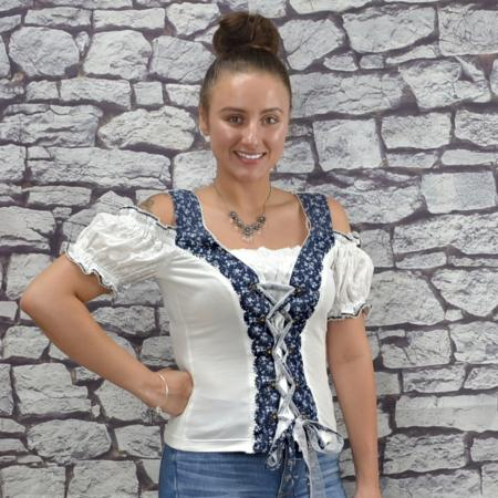 Elisa Blue Mieder Top