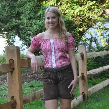 german ladies brown lederhosen