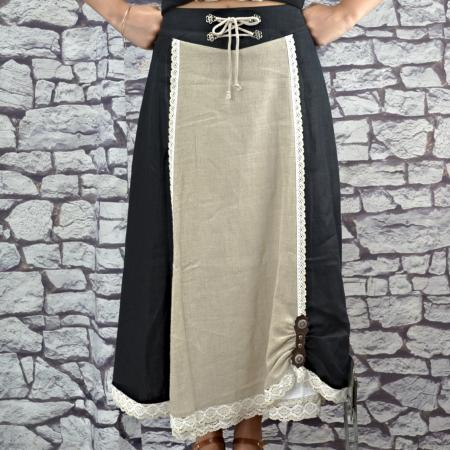 Long Black Skirt with Petticoat
