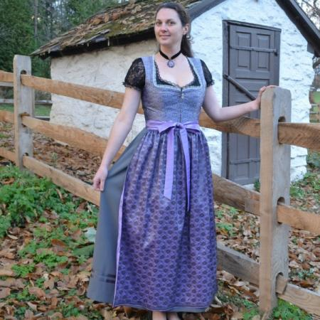 long purple german dirndl