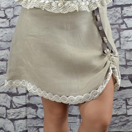 Short Tan Skirt