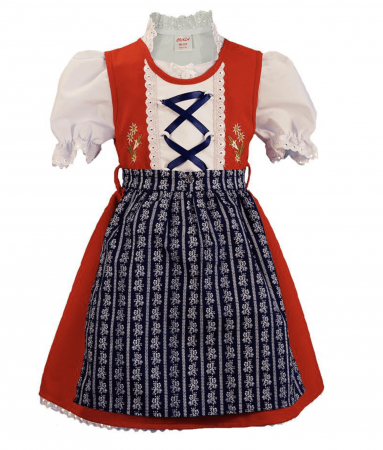 Imported Red Annabelle Dirndl