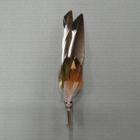 Mallard feather hat pin
