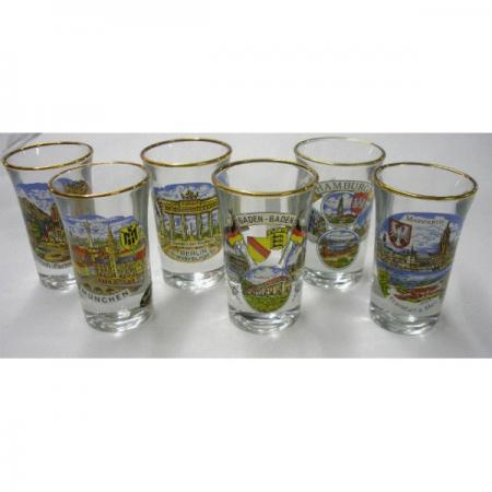 German City Shot Glass