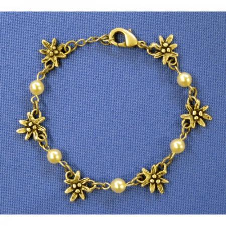 Edelweiss/Pearl Bracelet