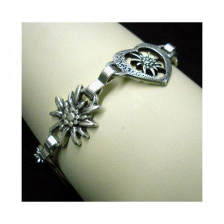 Edelweiss with heart bracelet