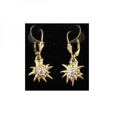 Gold Edelweiss earrings