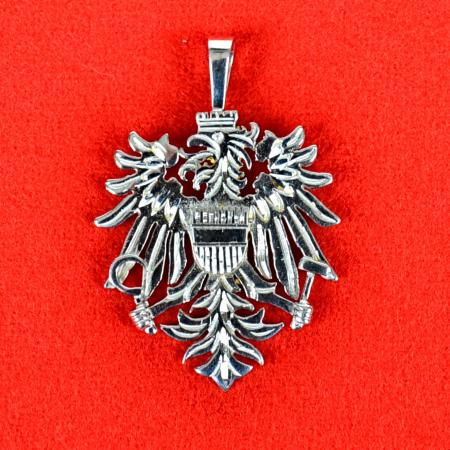 Sterling Silver or Yellow Gold Austrian Eagle Pendant