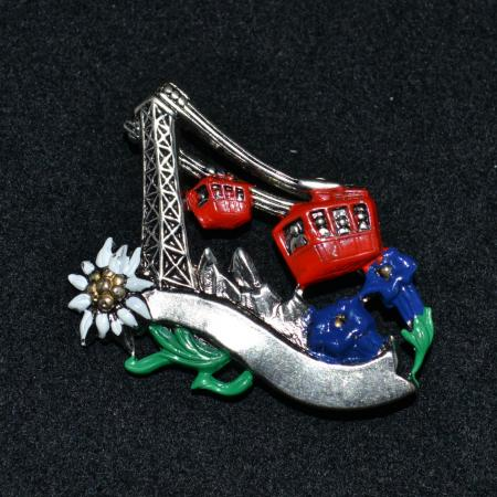 Cable Car hat pin