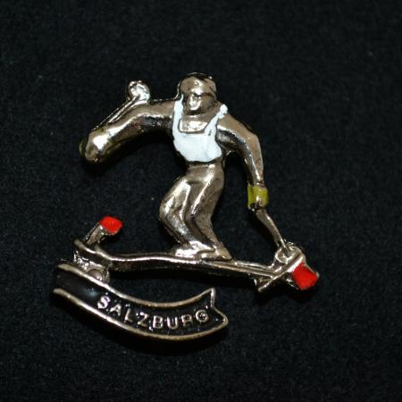Salzburg Skiing hat pin