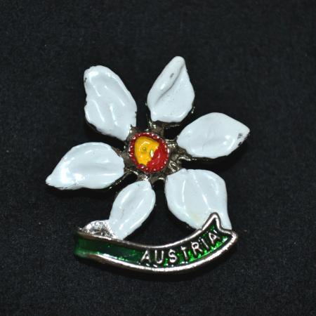 Flower - Austria hat pin