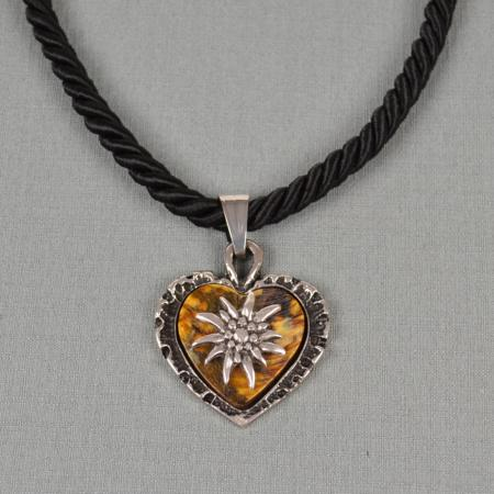 Stag Horn Heart Necklace on Cord