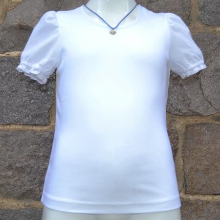 girls white german blouse