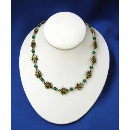 Emerald edelweiss necklace